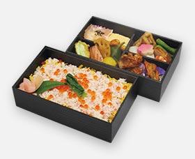蟹とイクラのちらし二段弁当